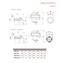 ابعاد مشعل خانگی و نیمه صنعتی گرم ایران